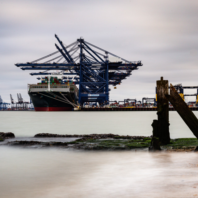 """Containership Ever Given at port of Felixstowe"" stock image"