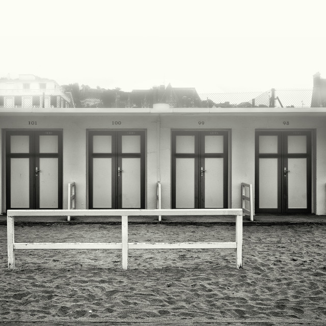 """""""Foggy Deauville"""" stock image"""