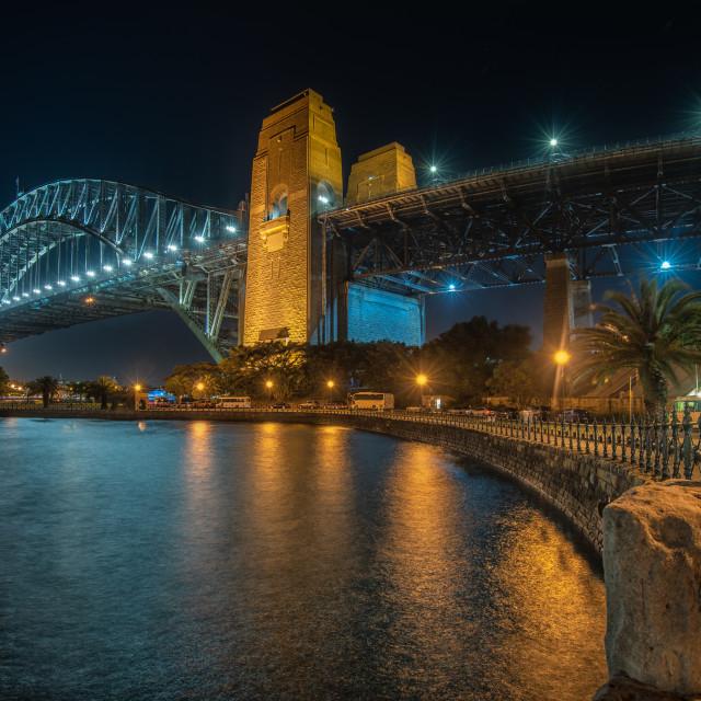 """Sydney Harbour Bridge by night, Australia"" stock image"