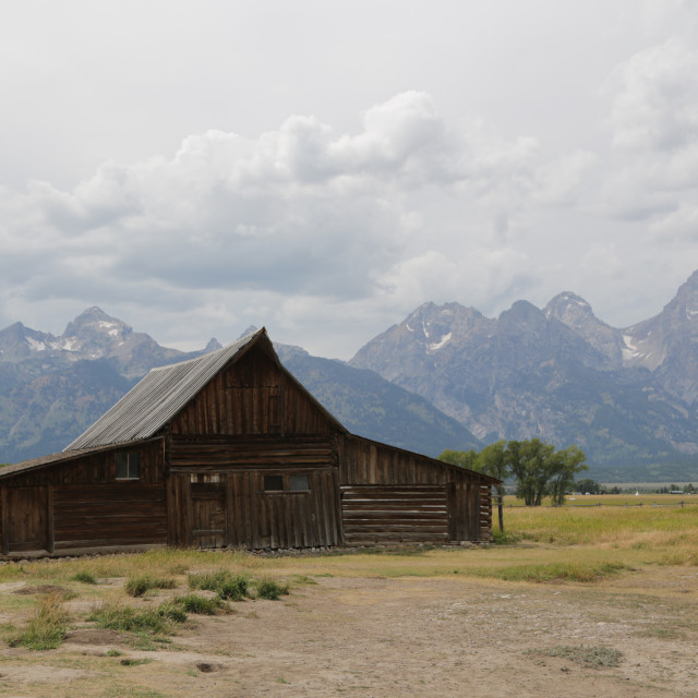 """mormon house in USA grand teton national park"" stock image"