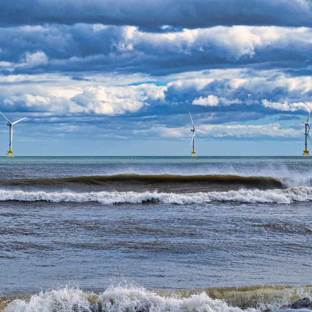 """""""Wind and wave power"""" stock image"""