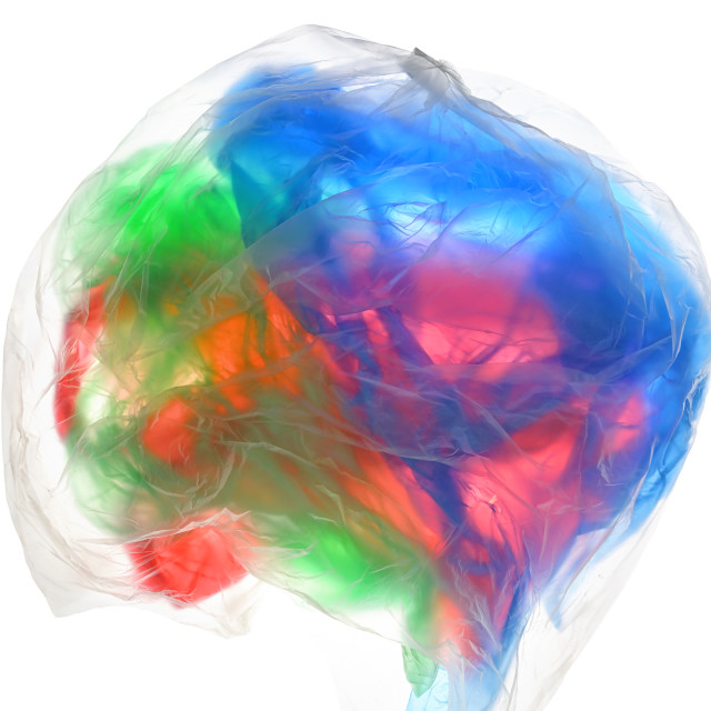 """""""Colorful Plastic Bags"""" stock image"""