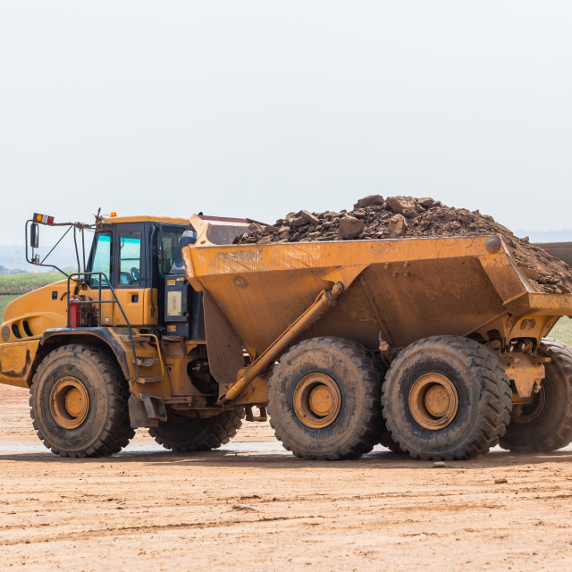 """Dump Truck Earthworks Industrial Development"" stock image"