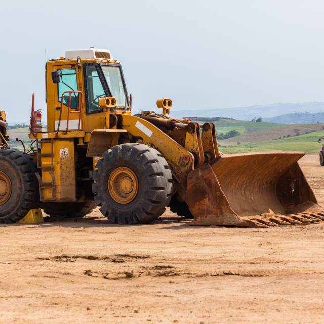 """Truck Earthworks Industrial Property Development"" stock image"