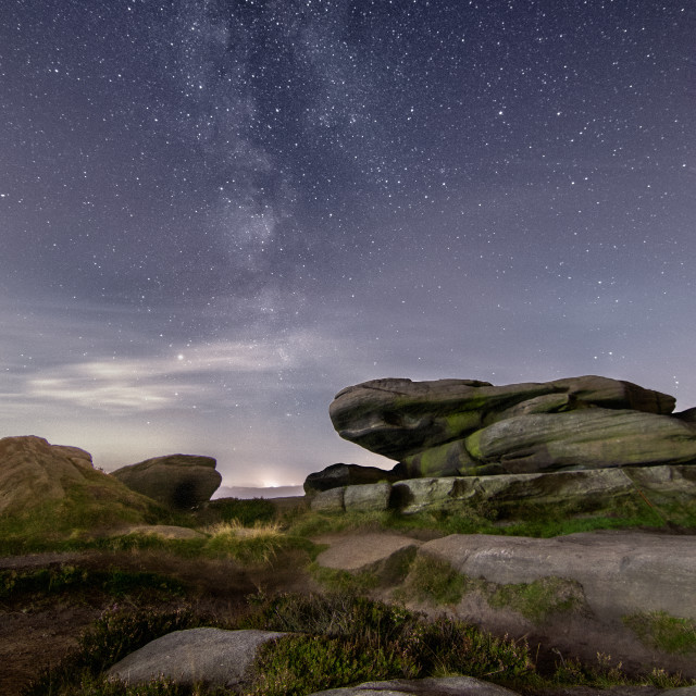 """""""Milky Way over Stanage Edge"""" stock image"""