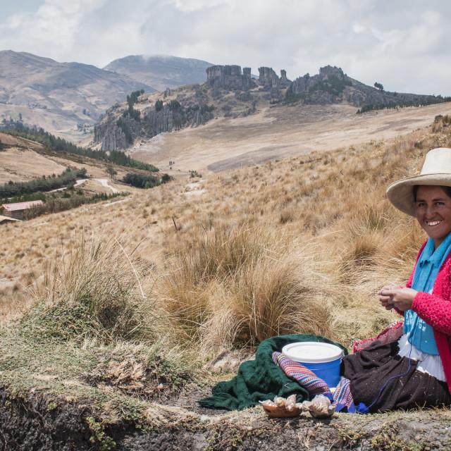 """Quechua Woman in Peru"" stock image"