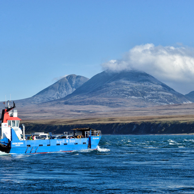 """Ferry to Jura, Scotland"" stock image"