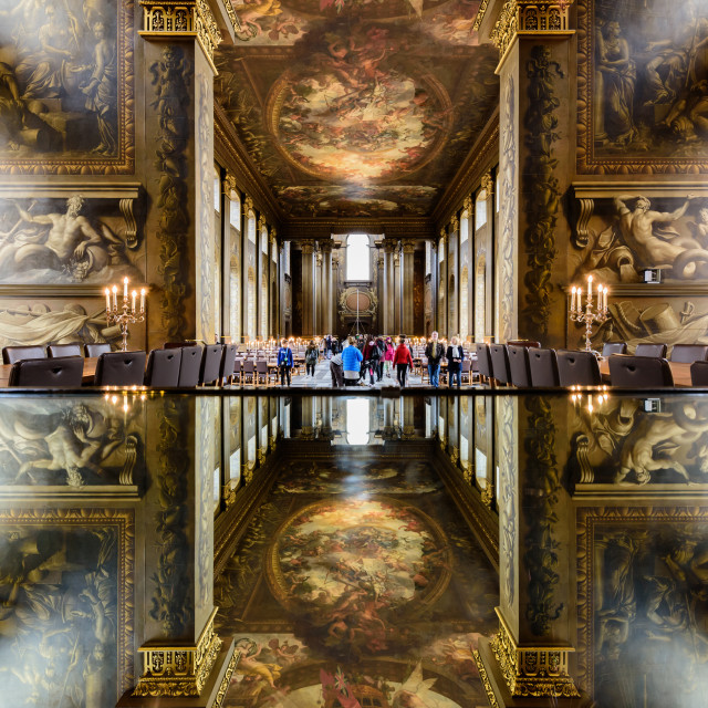 """Painted Hall, Old Royal Naval College (I) - Greenwich, London, UK"" stock image"