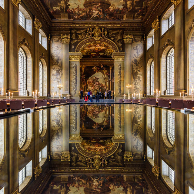 """Painted Hall, Old Royal Naval College (II) - Greenwich, London, UK"" stock image"