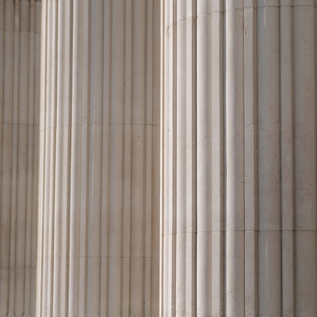 """""""Detail of architectural stone columns on building"""" stock image"""