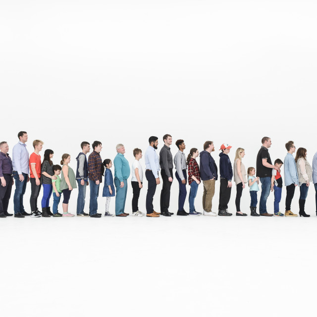 """""""line up"""" stock image"""