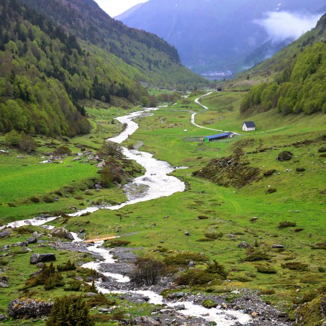 """Pyrenean stream"" stock image"
