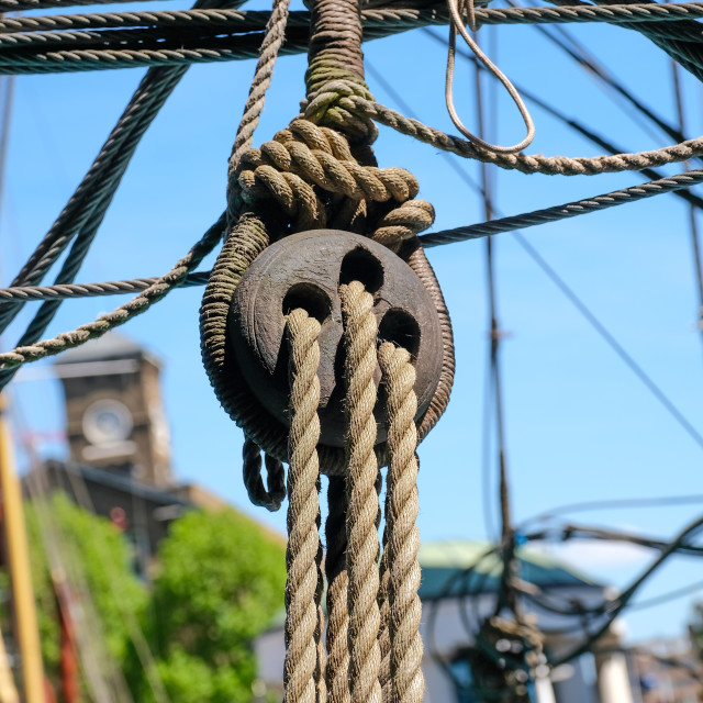 """""""wooden pulley"""" stock image"""