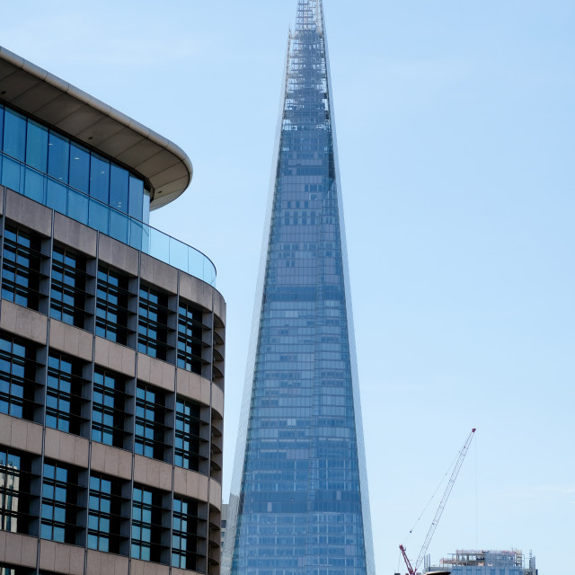 """""""Exterior of The Shard building in London"""" stock image"""