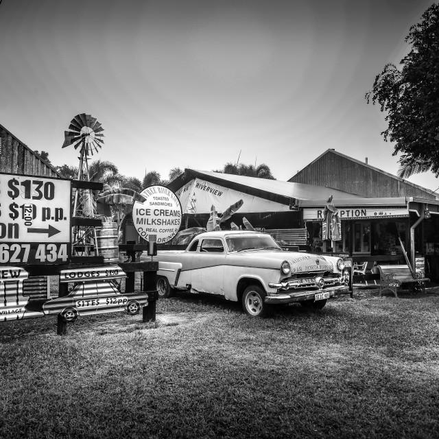 """""""Rustic Caravan Park"""" stock image"""