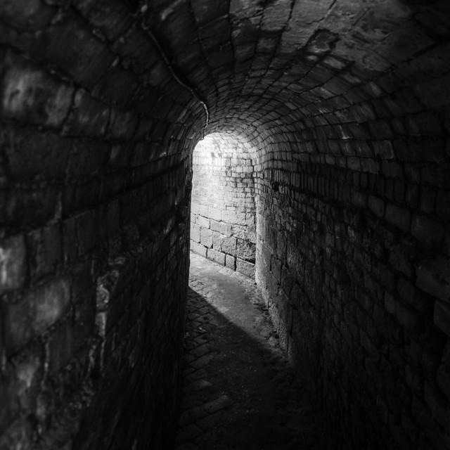 """Underground walkway"" stock image"