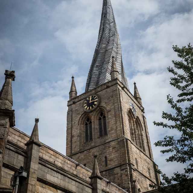 """""""Chesterfield Crooked Spire"""" stock image"""
