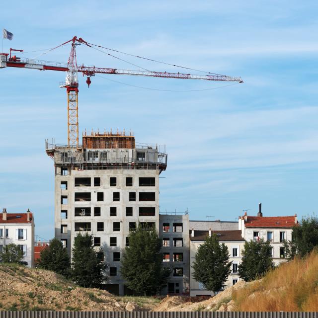"""New world constructions"" stock image"