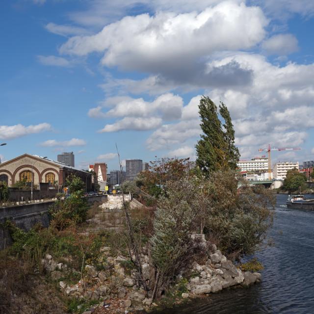 """""""Seine river"""" stock image"""