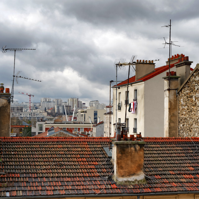 """""""Ivry-port roofs"""" stock image"""