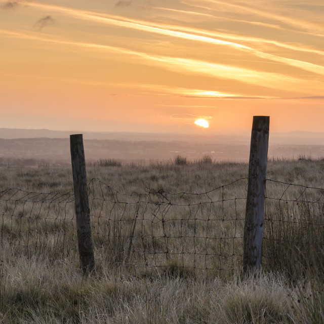"""North Pennine Sunrise, Teesdale, County Durham, UK"" stock image"