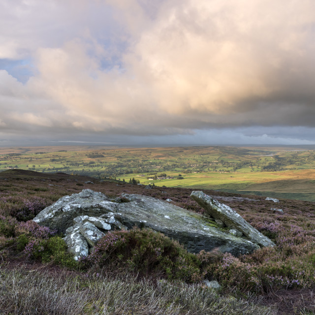 """Teesdale and Lunedale Viewed from Eggleston Common, Teesdale"" stock image"