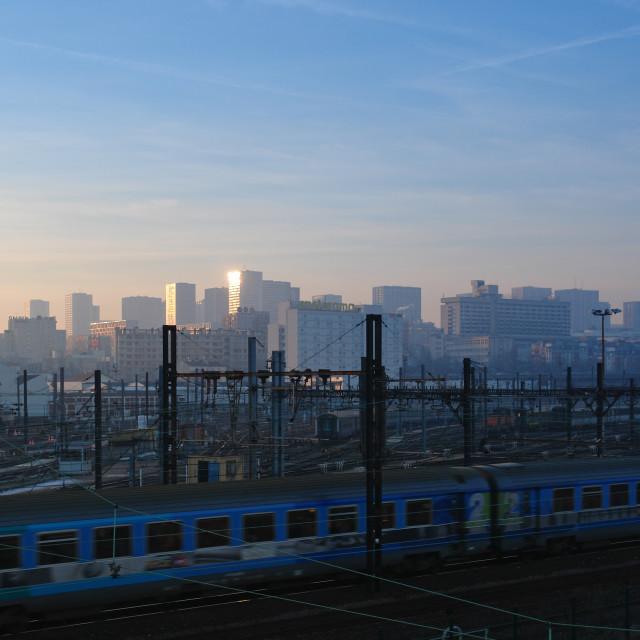 """Blue train"" stock image"