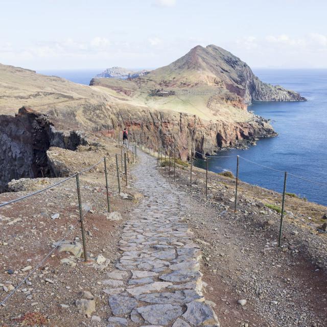 """""""Cape Ponta de Sao Lourenco on Madeira island, Portugal"""" stock image"""