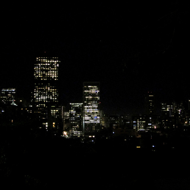 """""""City by night"""" stock image"""