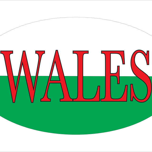 """""""Wales Isolated Rugby Ball"""" stock image"""