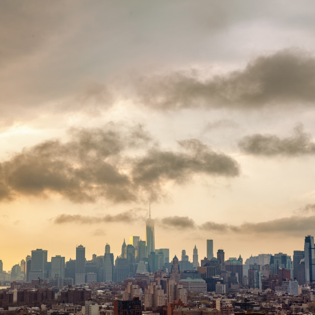 """New York City Skyline Including Manhattan and Brooklyn"" stock image"