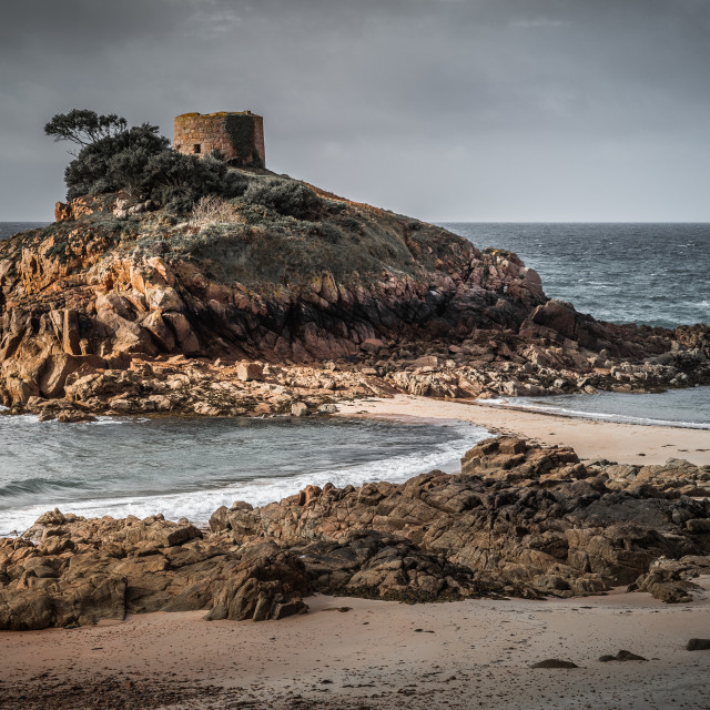 """Portelet Martello Tower, Jersey"" stock image"