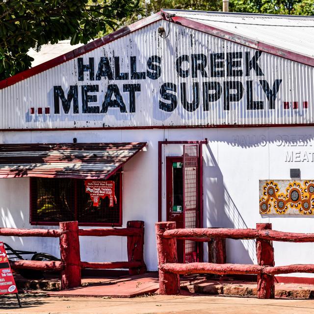 """Butcher Shop"" stock image"