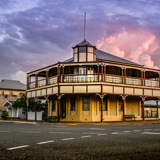 """Bowen Harbour Board Building"" stock image"