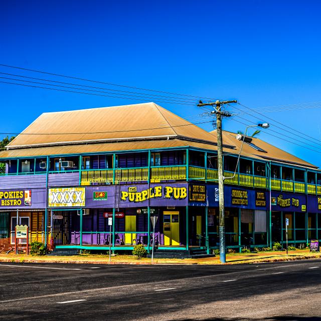 """Purple Pub"" stock image"