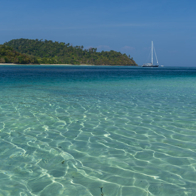 """""""Turquoise color of Andaman sea."""" stock image"""