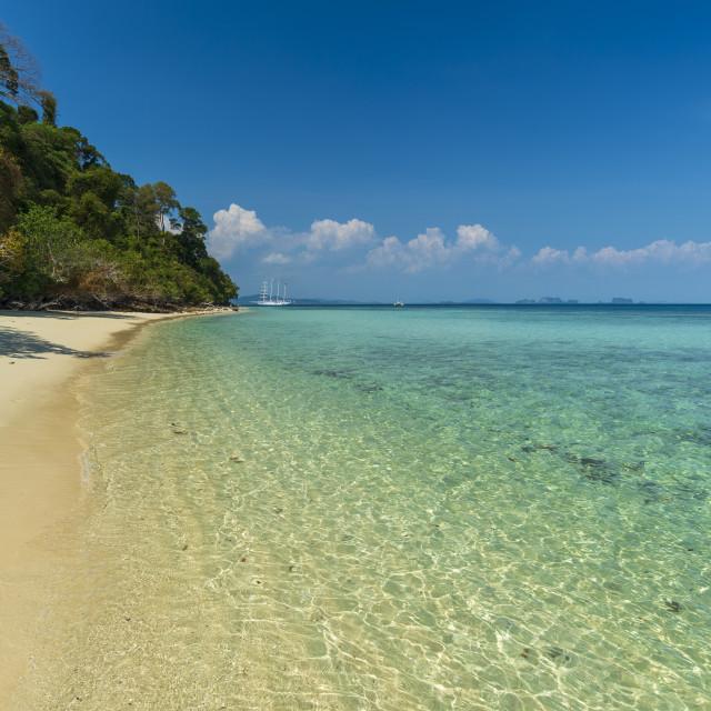 """""""Ko Kradan tropical beach."""" stock image"""