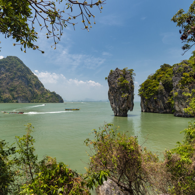 """""""James Bond Island, featured in the movie """"The Man with the Golden Gun""""."""" stock image"""