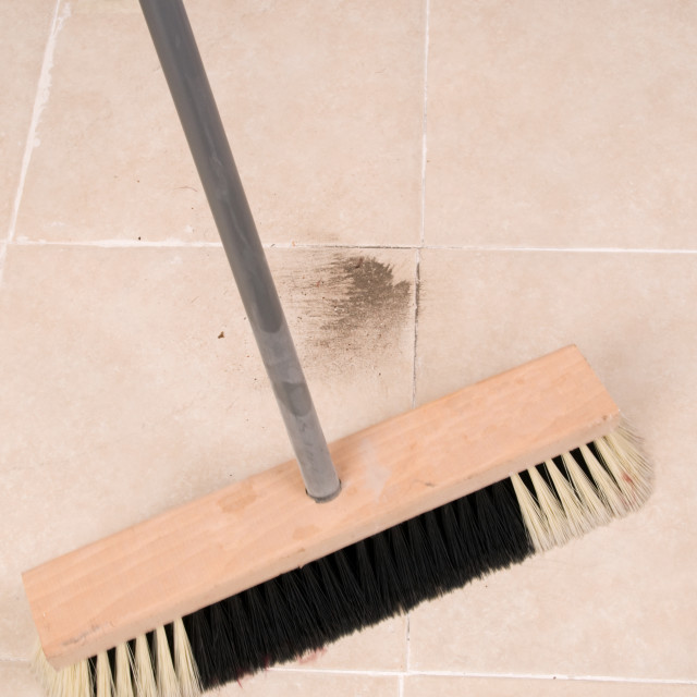 """""""broom and dirt"""" stock image"""