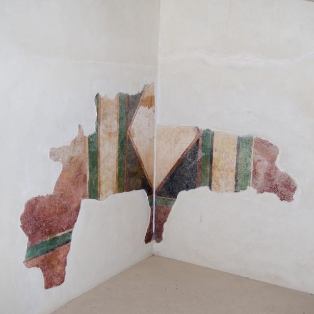 """Israel, Masada Stucco wall decoration"" stock image"