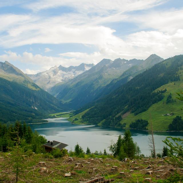 """""""Austria, Tyrol Gerlos Dam"""" stock image"""
