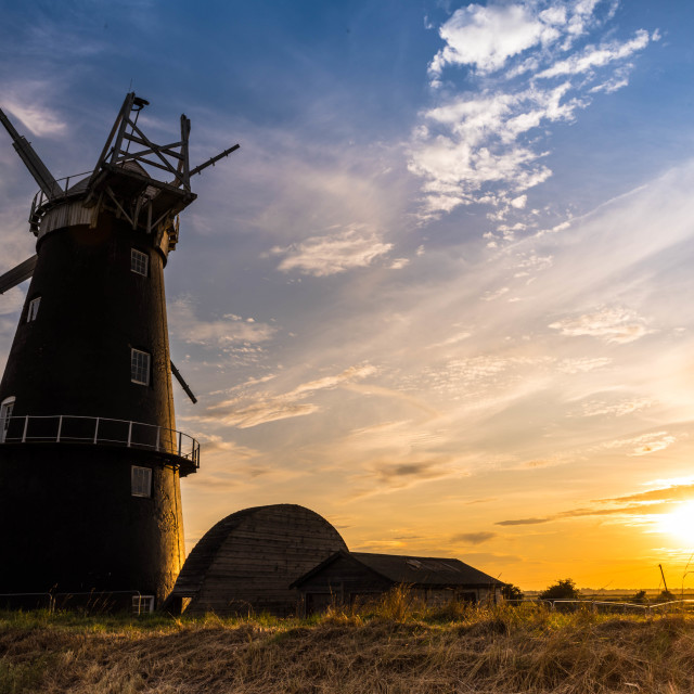 """Mill Sunset"" stock image"