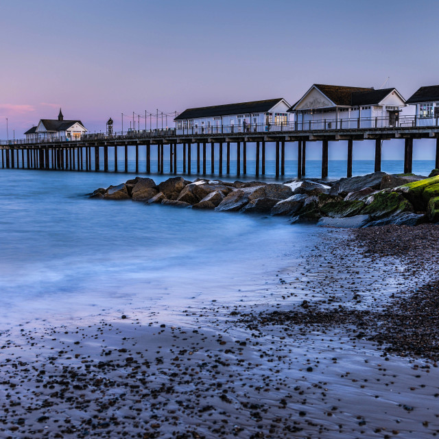 """Sundown At Southwold"" stock image"