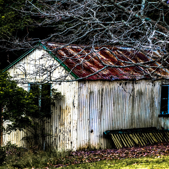 """""""Rustic Outback Shed"""" stock image"""