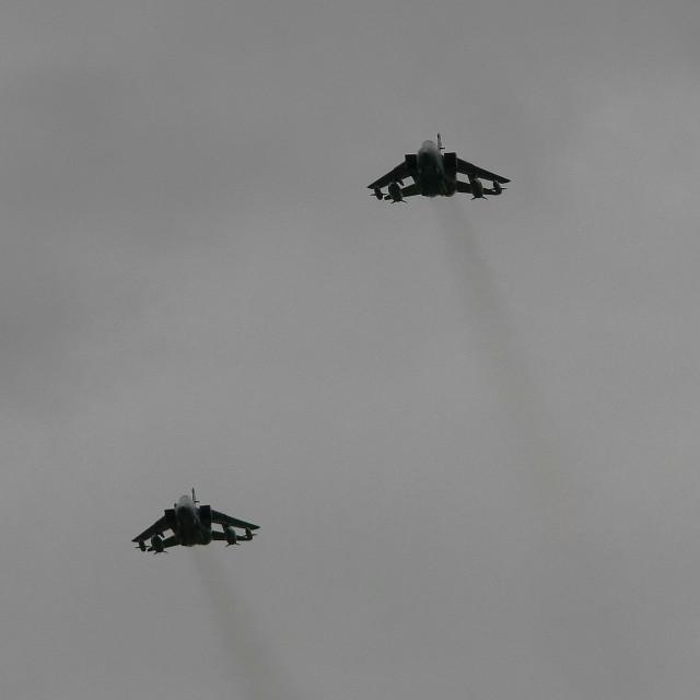 """RAF Panavia Tornado GR4`s at Aldergrove"" stock image"