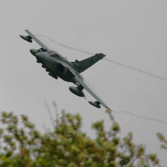 """""""RAF Panavia Tornado GR4 low and fast"""" stock image"""