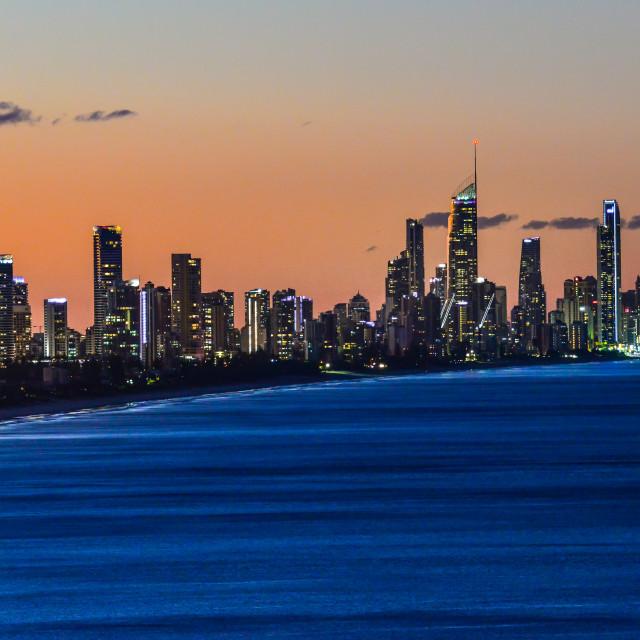 """Gold Coast Skyline"" stock image"