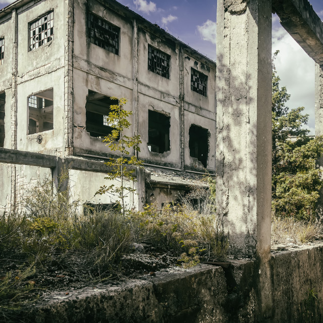 """Remnants of coal silo"" stock image"