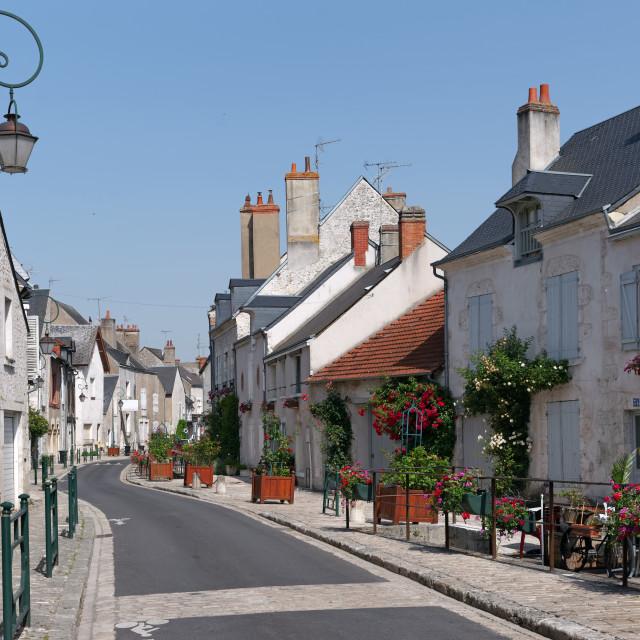 """Beaugency village"" stock image"