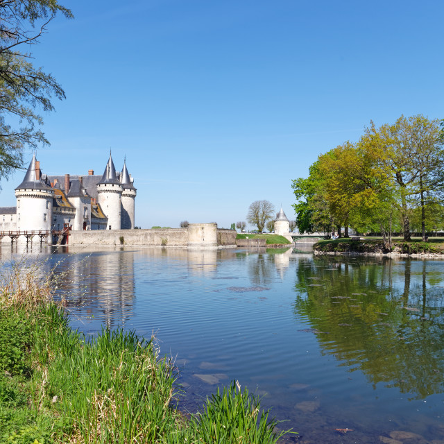 """""""Sully-sur-Loire reflection"""" stock image"""